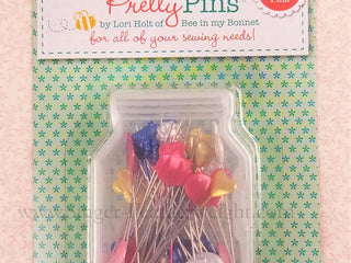 Load image into Gallery viewer, Pretty Quilting Pins, By Lori Holt - 60 Count