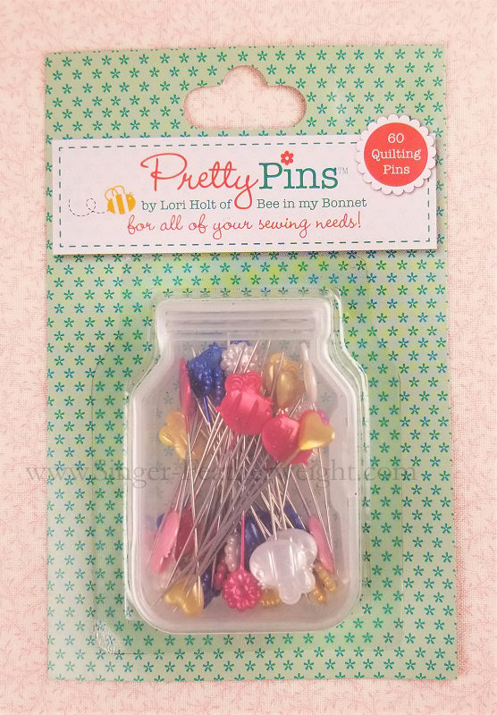 Pretty Quilting Pins, By Lori Holt - 60 Count