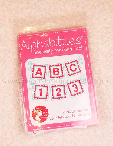 Alphabitties - Alphabet & Number Tags by It's Sew Emma