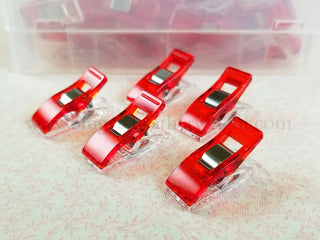 Load image into Gallery viewer, Wonder Clips, Pack of 10 - RED