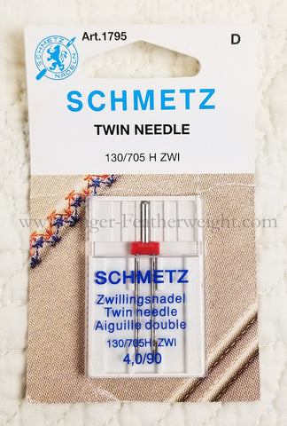 Schmetz TWIN Sewing Needle - (NOT for Featherweight)