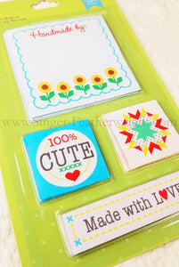 Labels, Set of 12 Woven Sew-In Labels by Lori Holt