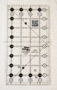 "Cutting Ruler, CREATIVE GRIDS 4 1/2"" x  8 1/2"" (with self-grips)"