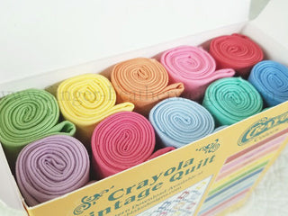 Load image into Gallery viewer, Fabric Rolls, Vintage Color Crayola Fat Quarter Box by Riley Blake Designs