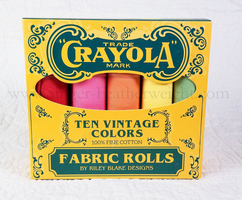 Fabric Rolls, Vintage Color Crayola Fat Quarter Box by Riley Blake Designs