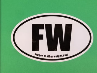"Load image into Gallery viewer, Bumper Sticker, Oval FW ""Featherweight"""