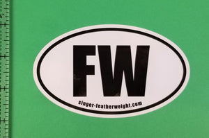 "Bumper Sticker, Oval FW ""Featherweight"""