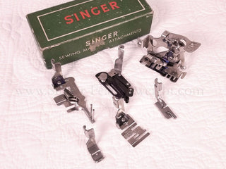 Load image into Gallery viewer, Boxed Set of Singer Attachments, SLANT SHANK (Vintage Original)