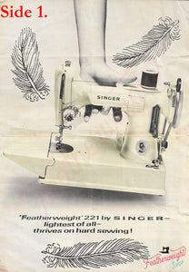 Advertisements, Rare Featuring the Singer Featherweight  - (Vintage Original)