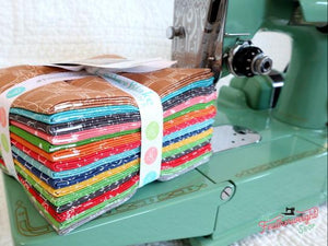 Fabric, Farm Girl Vintage Companion Prints by Lori Holt of Bee in My Bonnet - FAT QUARTER BUNDLE