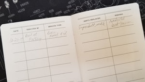 Maintenance LOG BOOK for Singer Featherweight 221 222 Service Records