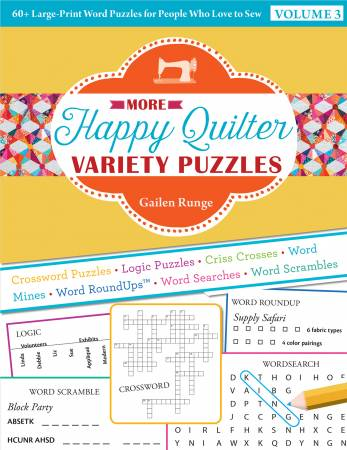 Book, More Happy Quilter Variety Puzzles Volume 2