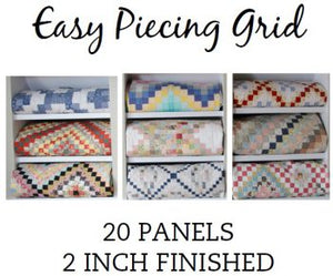 "Easy Piecing Grid, 20 Panels 2"" Inch Finished"