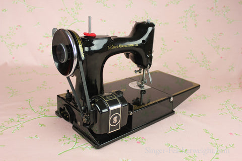 Singer Featherweight 40 Sewing Machine CHICAGO BADGE 40 AD40 Awesome Complete Sewing Machine Chicago