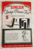 Gauge Presser Foot Attachment Set (vintage original) - SLANT SHANK