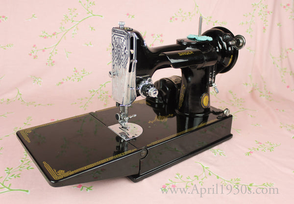 Singer Featherweight 221 Sewing Machine French Centennial
