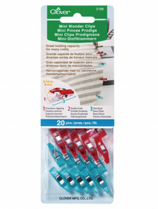 MINI Wonder Clips, Bag of 20 ct. Assorted Colors