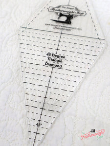 Cutting Ruler, 45 Degree Diamond / Rhombus and Triangle - Featherweight Shop Exclusive