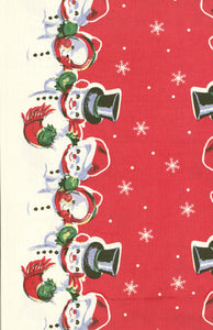 Fabric, 16-Inch Toweling by MODA - SNOWMAN (by the yard)