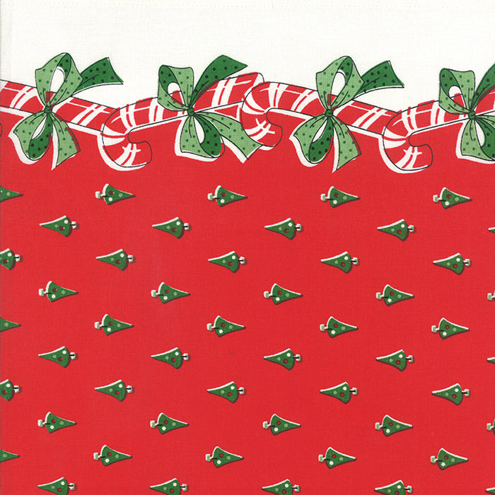 Fabric, 16-Inch Toweling by MODA - CANDY CANES RED (by the yard)