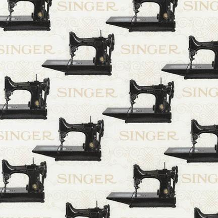 Fabric, Singer Featherweight Sewing Machines - Black Featherweights (Antique) (Discontinued)