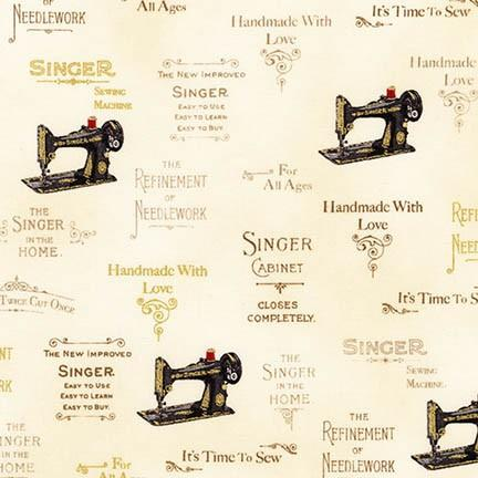 Fabric, Singer Featherweight Sewing Machines - Antique Singer Machines-ANTIQUE