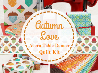 Load image into Gallery viewer, Quilt Kit, Boxed Set - Autumn Love Acorn TABLE RUNNER