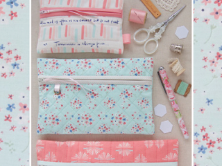"Load image into Gallery viewer, PATTERN, ""Amy's Pretty Pockets"" Zippered Pouch by Kristyne Czepuryk Pretty by Hand"