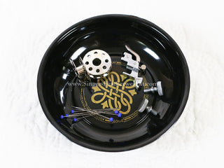 Load image into Gallery viewer, Magnetic Dish for Pins & Maintenance, BLACK & GOLD Featherweight Style