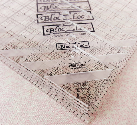 "Square ""BLOC LOC"" Ruler SET, 1.5"", 2.5"", 3.5"", 4.5"", 5.5"" & 6.5"" with Squaring-Up Groove"