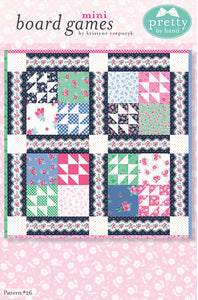 "PATTERN, ""Board Games Mini"" Quilt by Kristyne Ezepuryk Pretty by Hand"