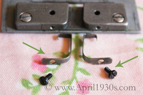 Position Plate Brackets and Screws (Vintage Original)