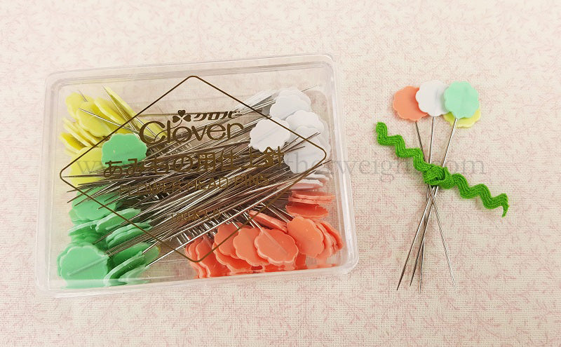 Flower Head Pins, Multi-Colored PASTELS 100 Count