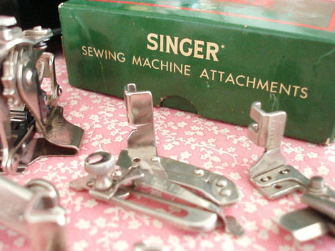 Boxed Set of Singer Attachments, Vintage