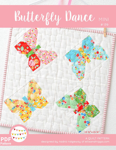 Pattern, Butterfly Dance MINI Quilt (digital download)