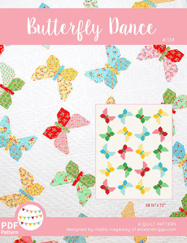 Pattern, Butterfly Dance Quilt by Ellis & Higgs (digital download)