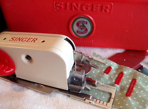UK Cream Buttonholer Attachment, Vintage Singer
