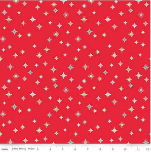 Fabric, COZY Christmas by Lori Holt of Bee in My Bonnet - Sparkle, Red