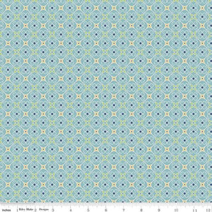 Fabric, COZY Christmas by Lori Holt of Bee in My Bonnet - Wrapping Paper, Blue