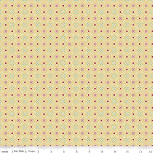Fabric, COZY Christmas by Lori Holt of Bee in My Bonnet - Wrapping Paper, Yellow