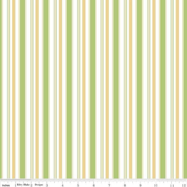 Fabric, COZY Christmas by Lori Holt of Bee in My Bonnet - Stripe, Green