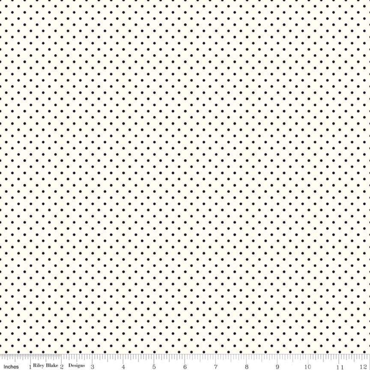 Fabric, Le Creme SWISS DOT BLACK BASIC by Riley Blake  (by the yard)