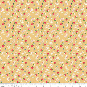 Fabric, Farm Girl Vintage by Lori Holt APPLE HONEY (by the yard)