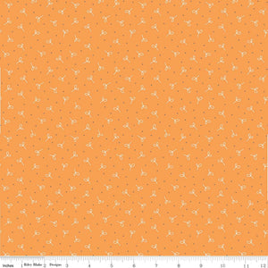 Fabric, Farm Girl Vintage by Lori Holt SEEDLING ORANGE (by the yard)