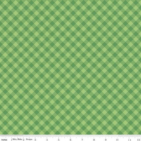 Fabric, COZY Christmas by Lori Holt of Bee in My Bonnet - Gingham, Green