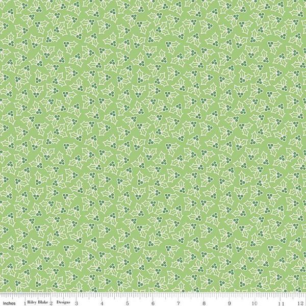 Fabric, COZY Christmas by Lori Holt of Bee in My Bonnet - Holly, Green