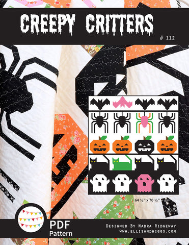 Pattern, Creepy Critters Quilt (digital download)