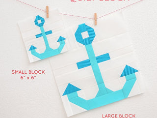 Load image into Gallery viewer, Pattern, Nautical Anchor Quilt Block by Ellis & Higgs (digital download)