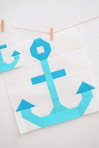 Pattern, Nautical Anchor Quilt Block by Ellis & Higgs (digital download)