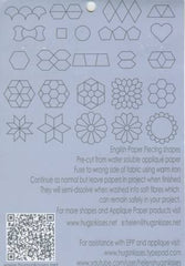 "Load image into Gallery viewer, 1"" Inch Hexagon Iron-On Papers For English Paper Piecing x 100"